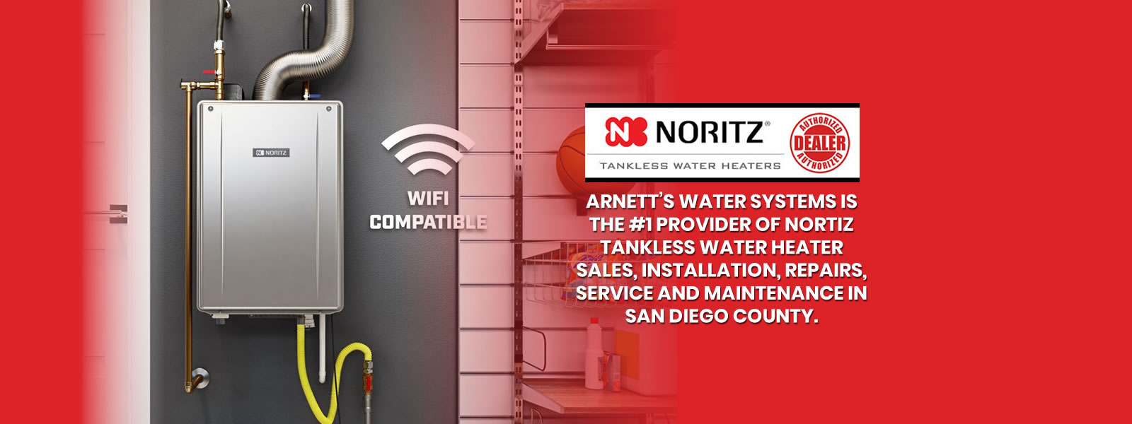 Arnetts Water Systems Provider of Nortiz Tankless Water Heater Sales Installation and Repairs