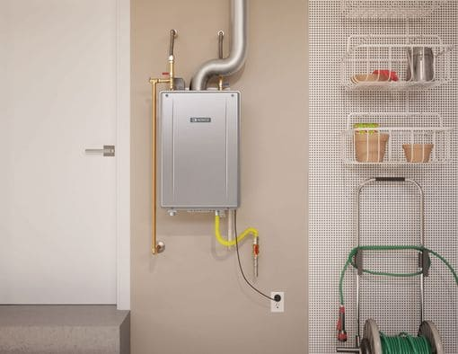 tankless install in garage